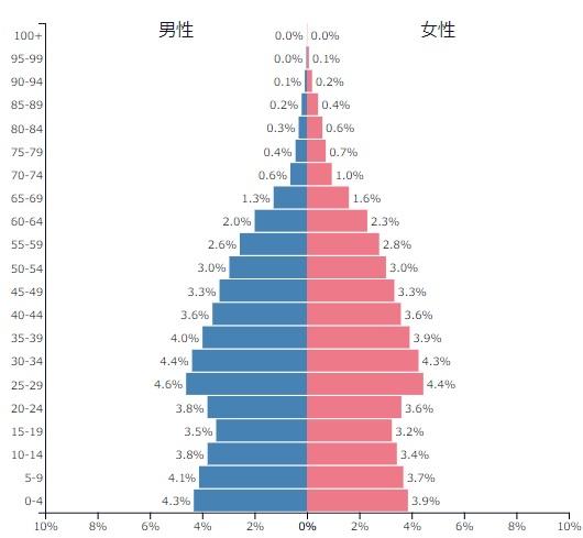 ベトナム人口ピラミッド